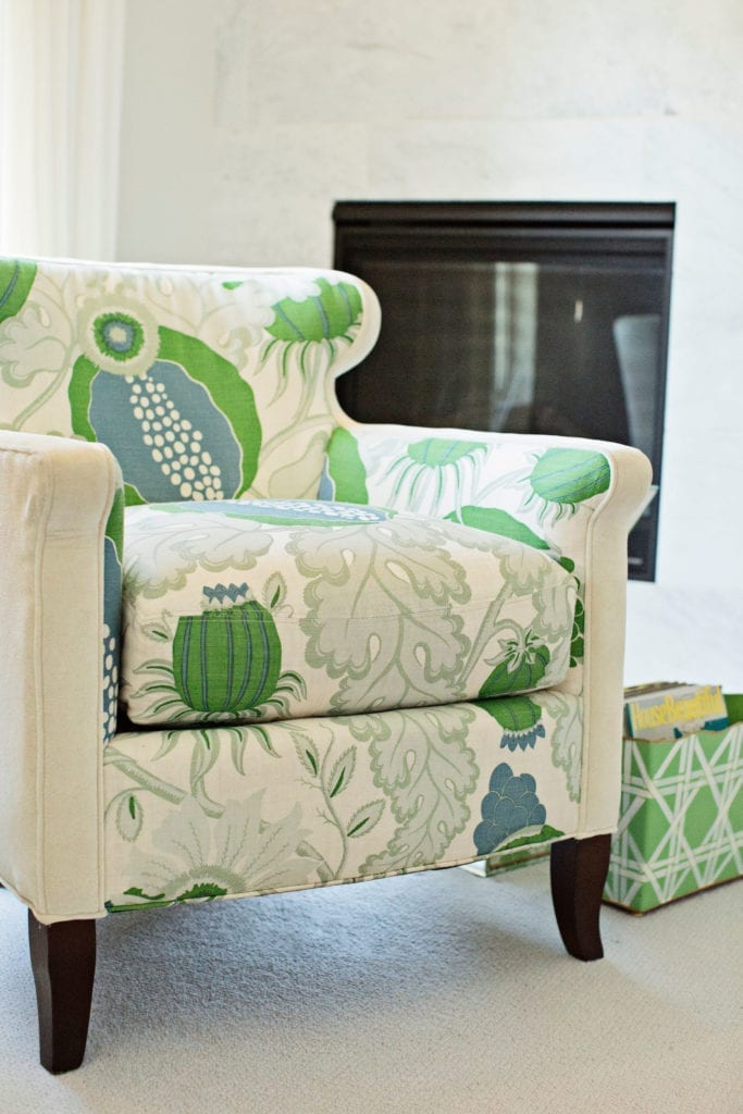 bold fabric, Christopher farr, chair