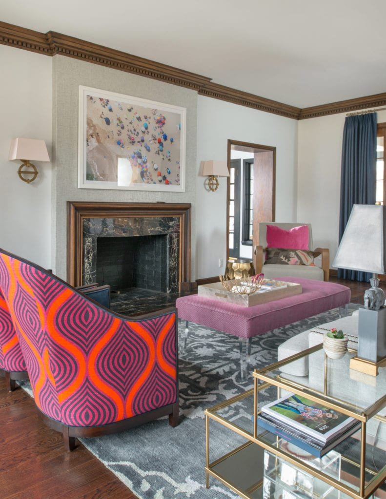 bold fabric, chair, color